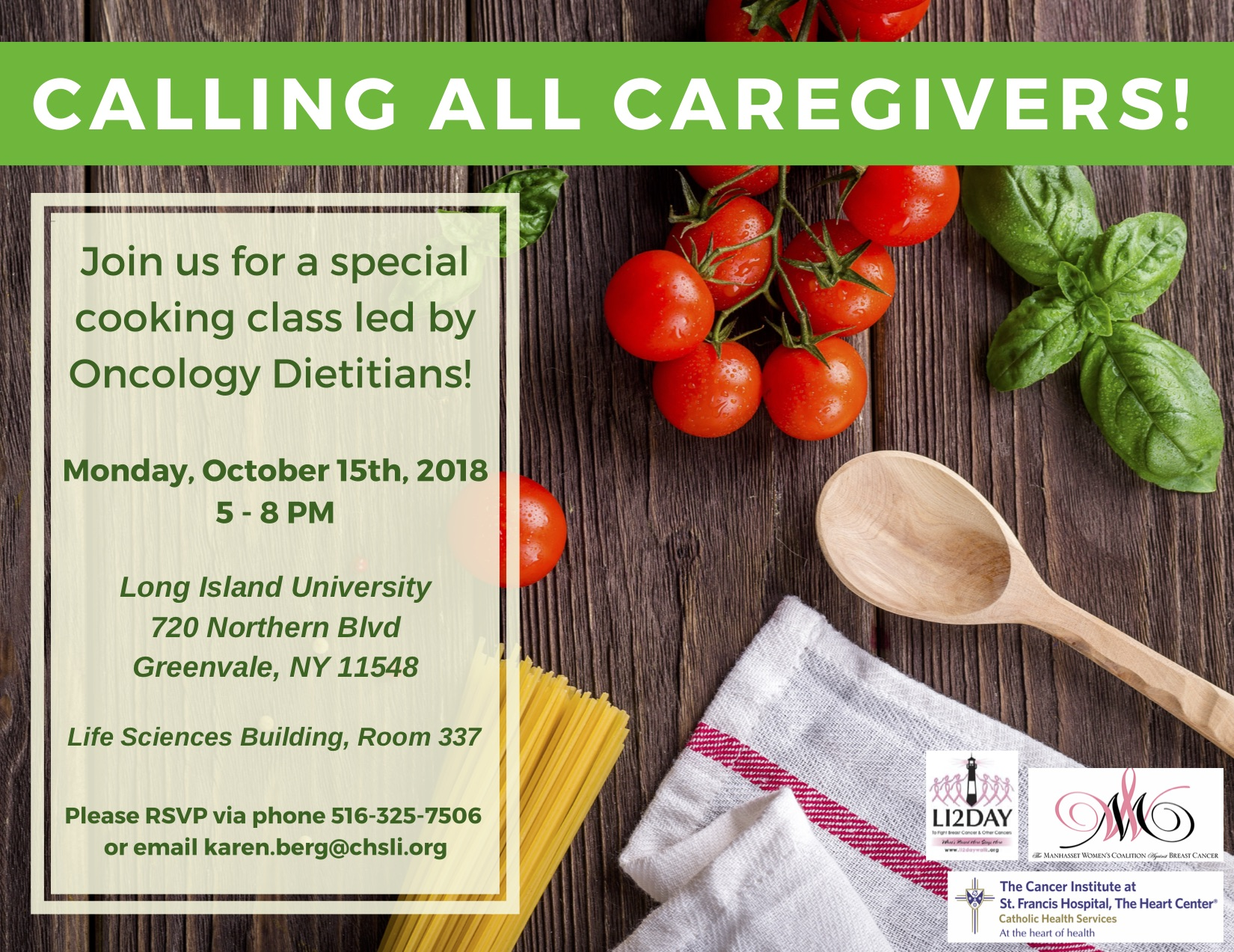 Cooking is Caring: Calling all Caregivers