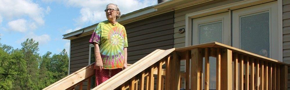 """Thanks to Habitat for Humanity Greene County I no longer feel unsafe on my deck.""        Jennifer Varner"