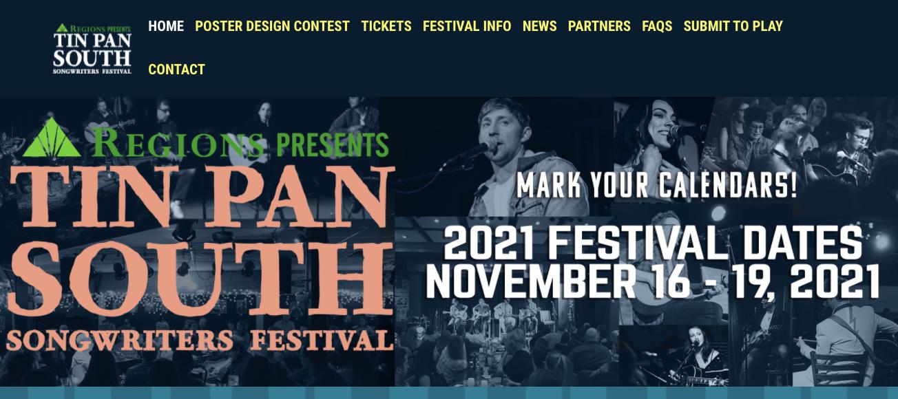 Nov 16-19, 2021: Tin Pan South Songwriter's Festival 2021