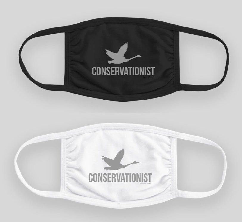 Swan Conservationist Face Masks. $21.00 each, includes shipping in USA only