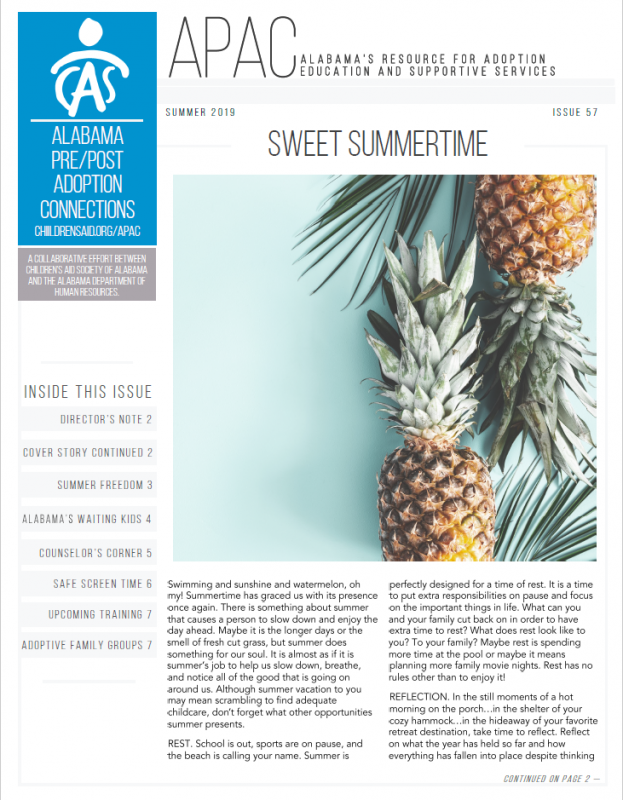 "APAC Newsletter, ""Sweet Summertime"" - Issue 57"
