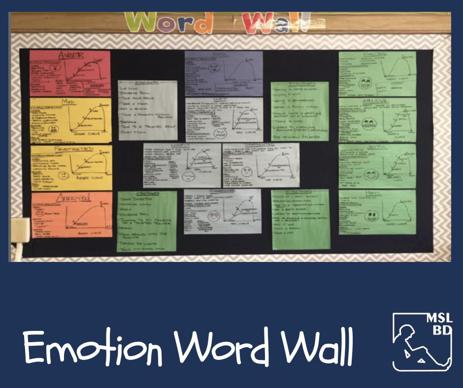 Emotion Word Wall
