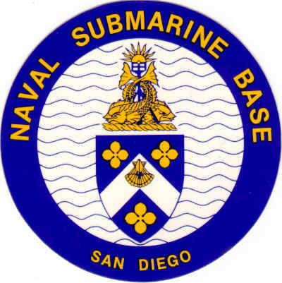 V31311 - Naval Submarine Base Seal Carved Wooden Wall Plaque