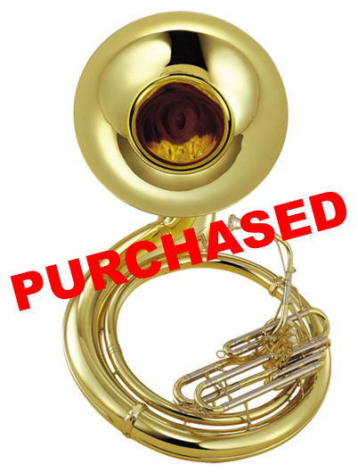 Yamaha YSH-411 Series Brass BBb Sousaphone