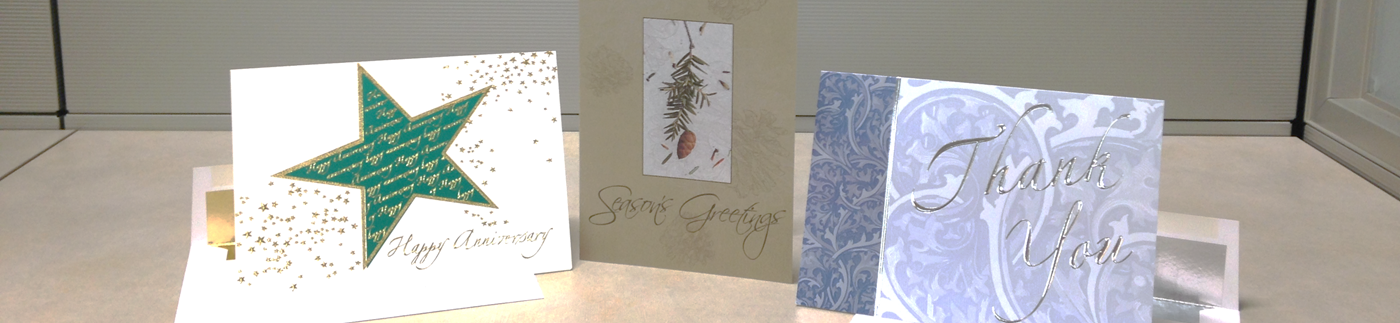 Greeting Cards Displayed on Desk