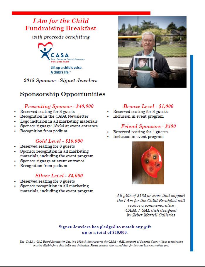 Breakfast Sponosorship Opportunities