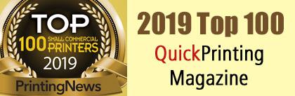 2018 Top 100 QuickPrinting Magazine