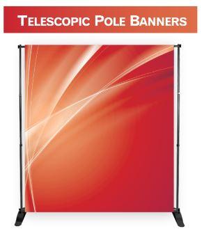 "Telescopic Pole Banner (56"" x 90"")"