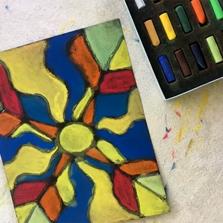 Stained Glass Drawing