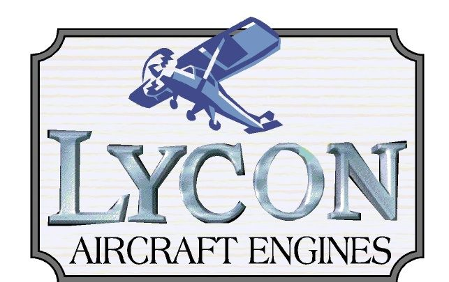 SA28656 - Design for Sign for Aircraft Engines with Carved Light Plane