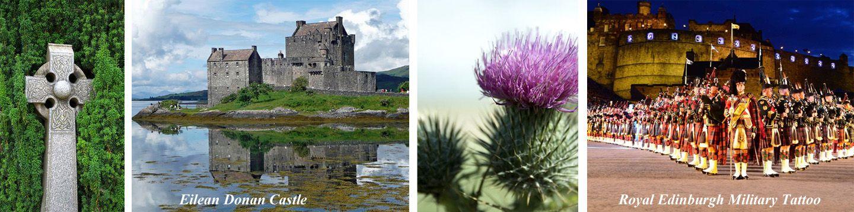 Scotland landmarks, castles, landscape