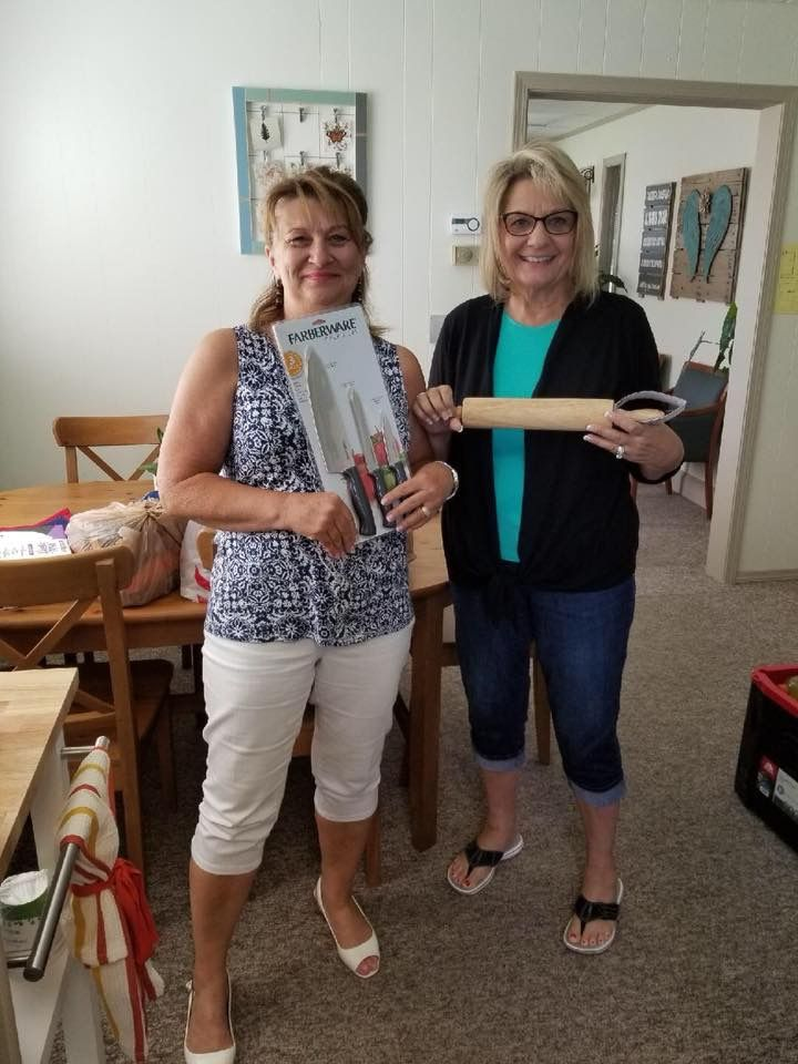 Ladies from Hillspring Church came by to drop off donation from our Current Needs list!