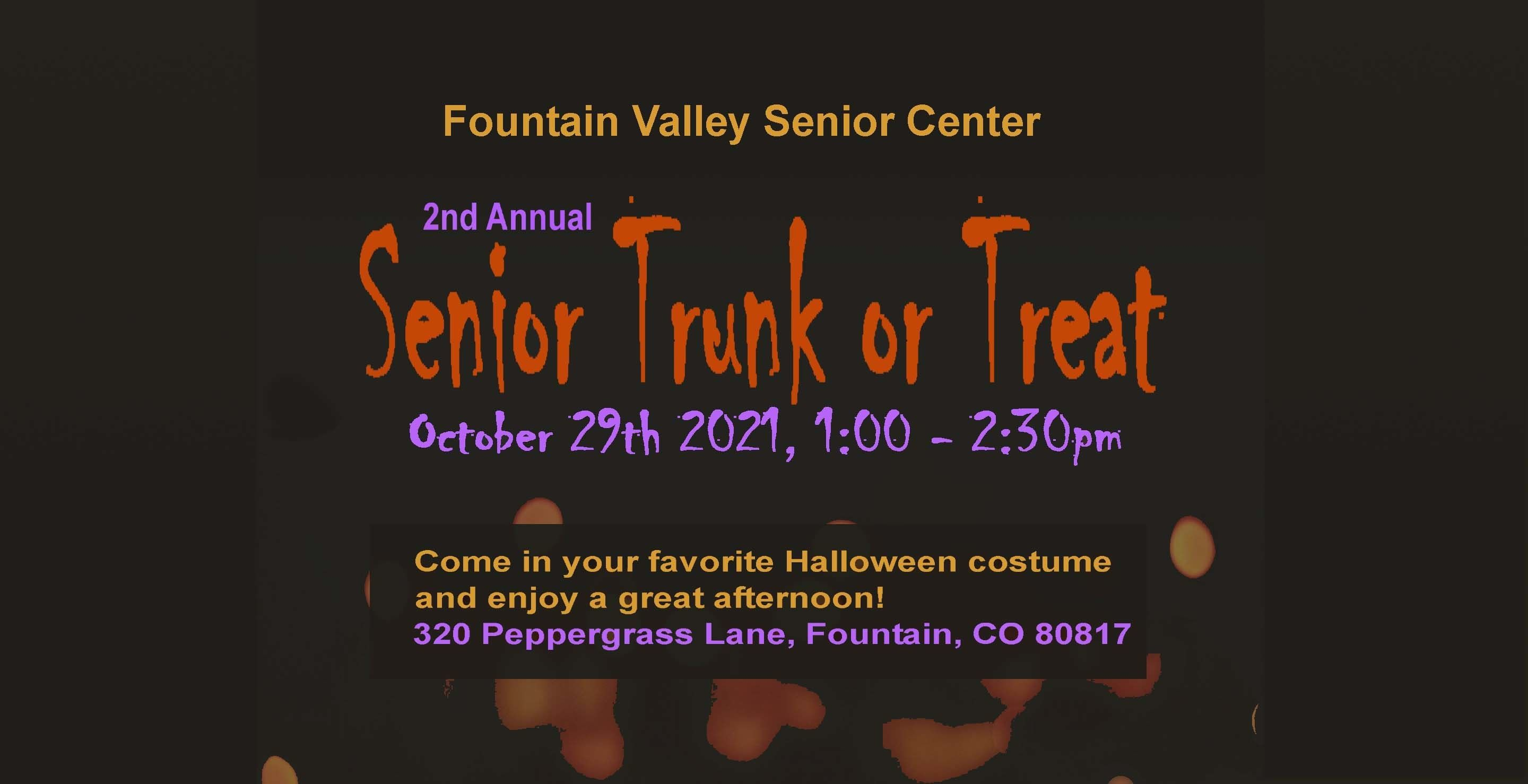 2nd Annual Senior Trunk or Treat