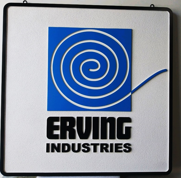 VP-1446 - Carved Plaque of the Logo of Erving Industries