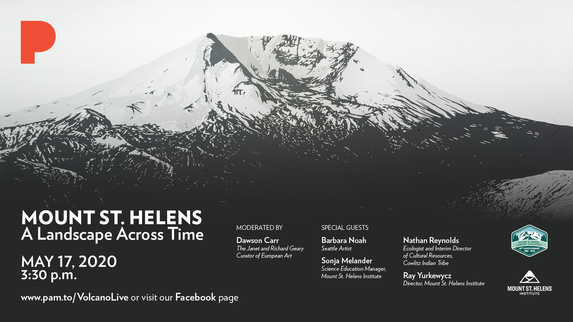 Portland Art Museum and MSHI present: Mount St. Helens: A Landscape Across Time