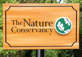 G16230 - Clear Heart Redwood Naturally Finished Sign for Nature Conservancy