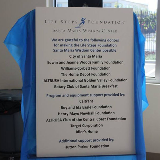 Thank you to all our donors who made the Santa Maria Wisdom Center possible.