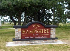 M6734 - Custom Village Entrance Monument Sign