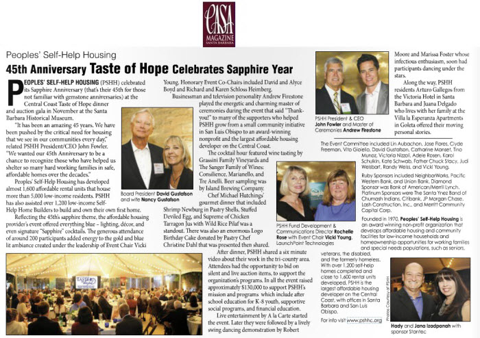45th Anniversary Taste of Hope Celebrates Sapphire Year