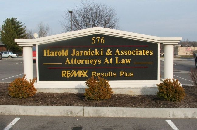A10156 - Classical-Style Law Office Monument Sign