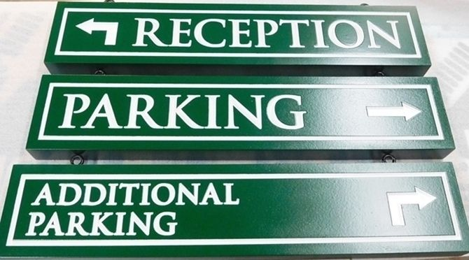 T29462 - Engraved HDU Parking and Wayfinding Signs for Hotel
