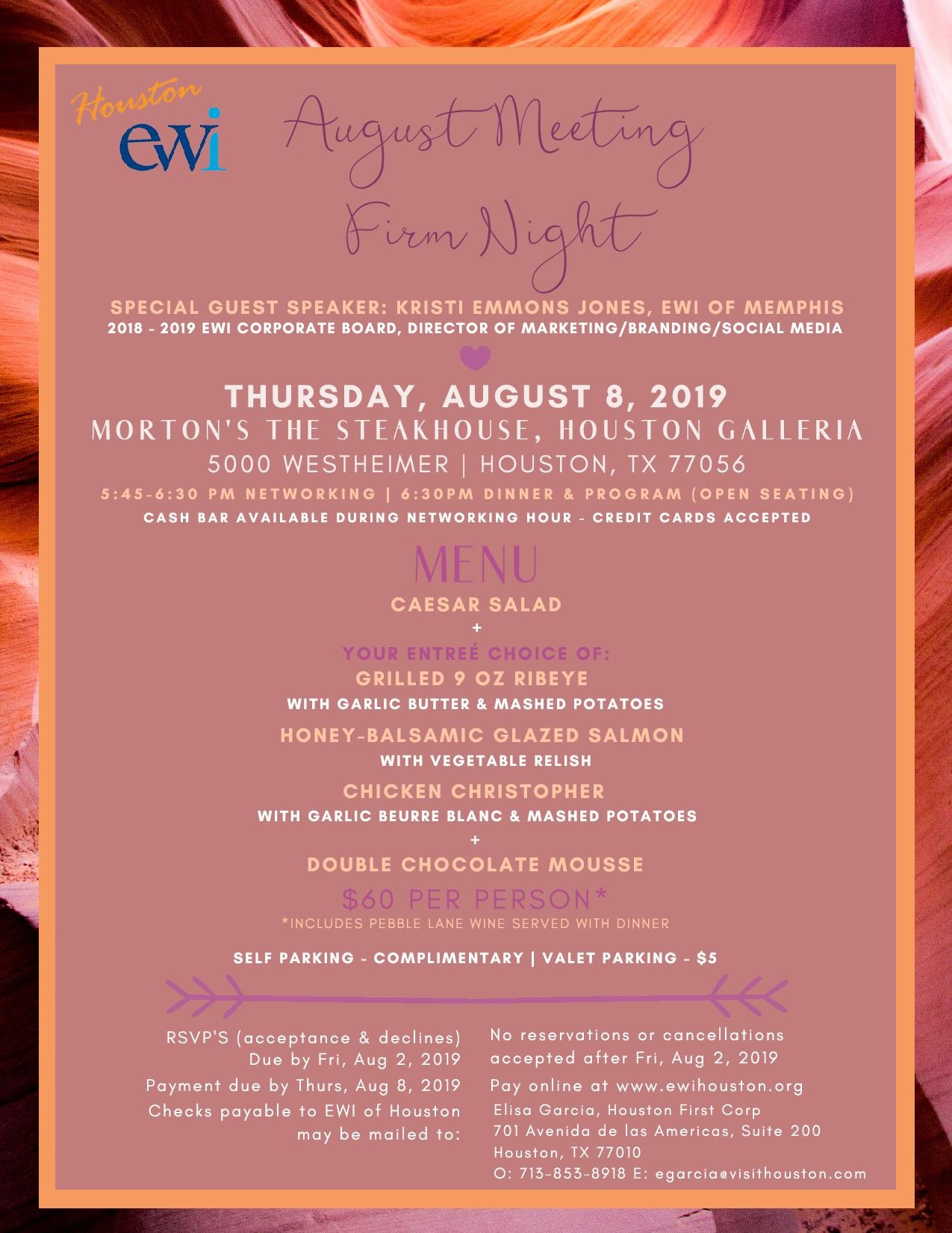 EWI August Monthly Meeting