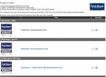 Streamline Business Card Orders