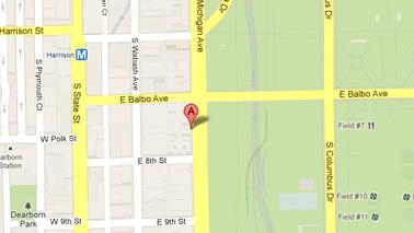 Hilton Chicago Map