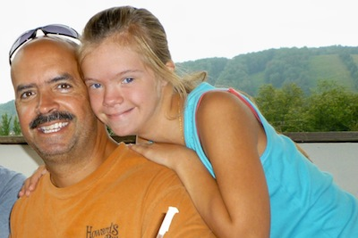 dad and daughter who has Down syndrome