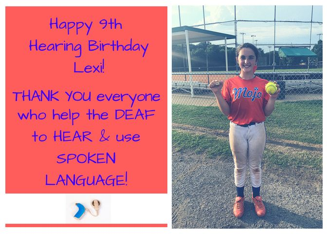 It Takes a Village: Lexi's 9th Hearing Birthday! BE THANKFUL!