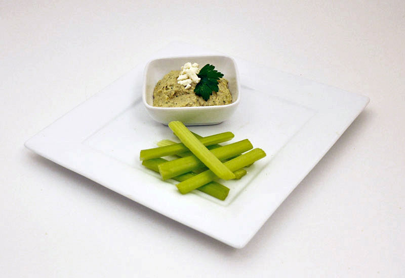 Hummus with celery sticks