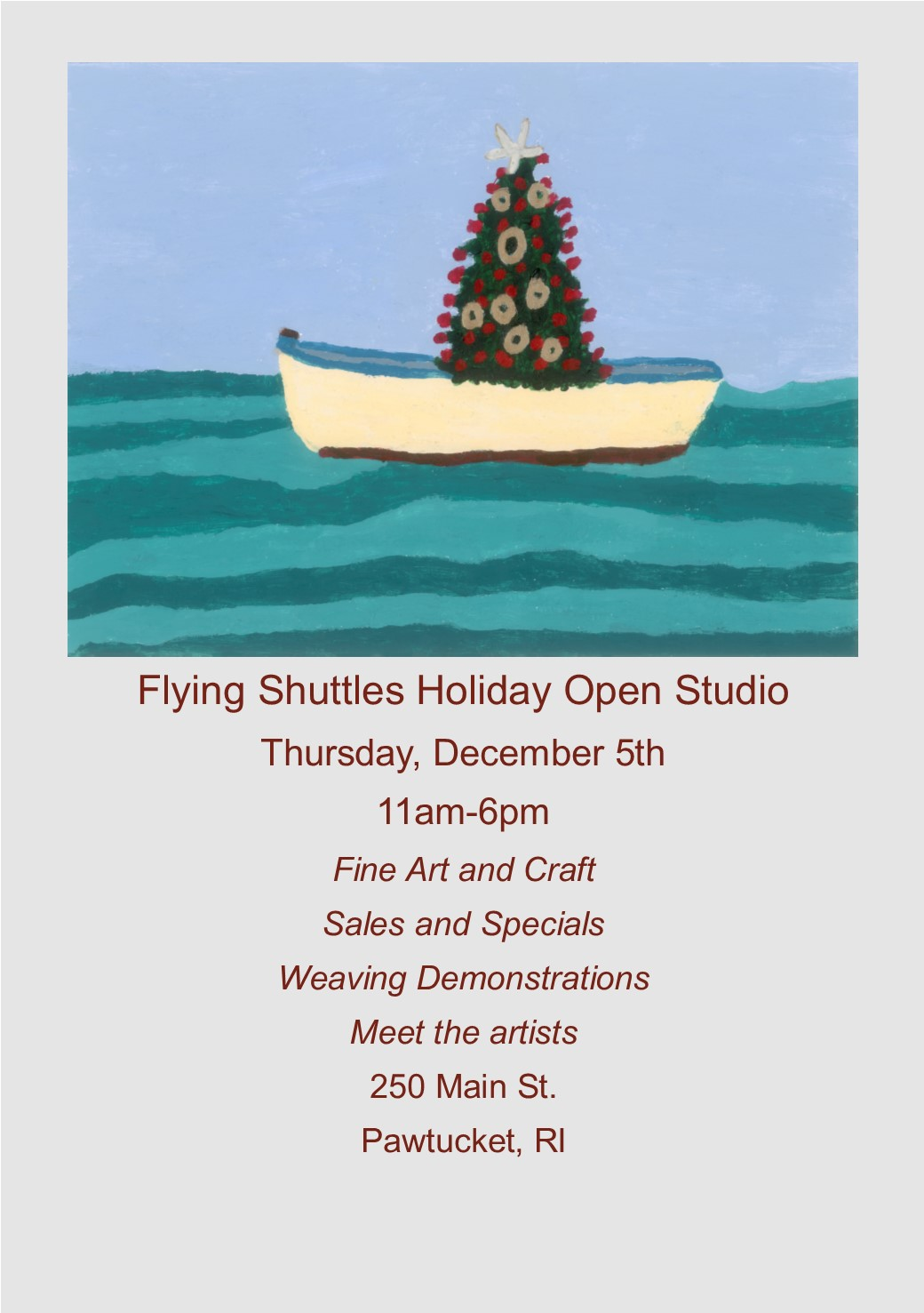 Flying Shuttles Open House 12/5