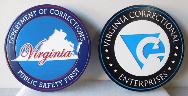 W32515 - Carved Engraved HDU Wall Plaques for the Virginia Department of Corrections