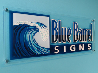 Interior business office signs