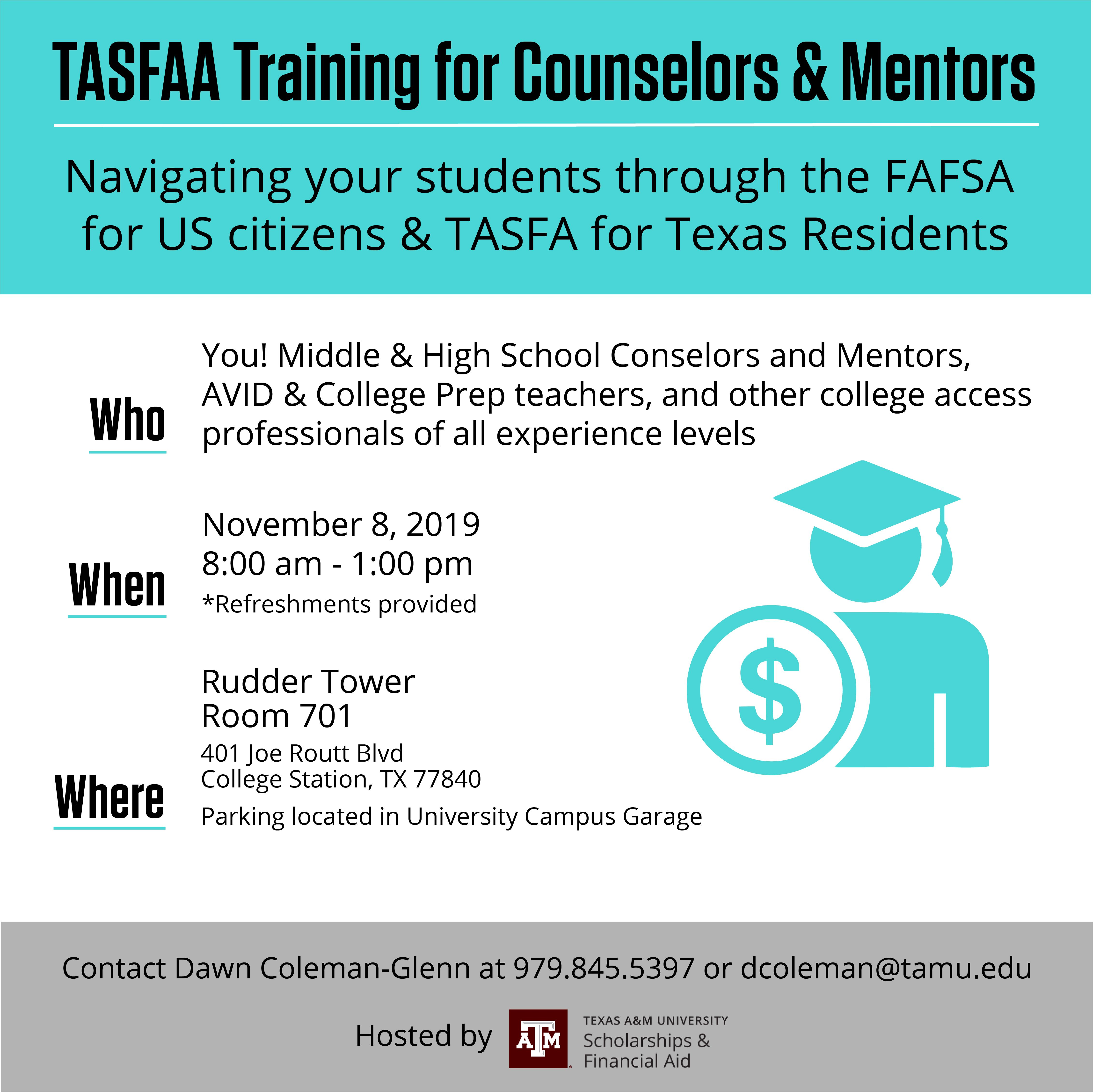 TAMU- High School Counselor Financial Aid Training