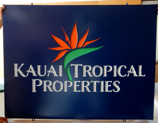 C12303 -  Elegant Engraved Sign for A Hawaii Realty Company