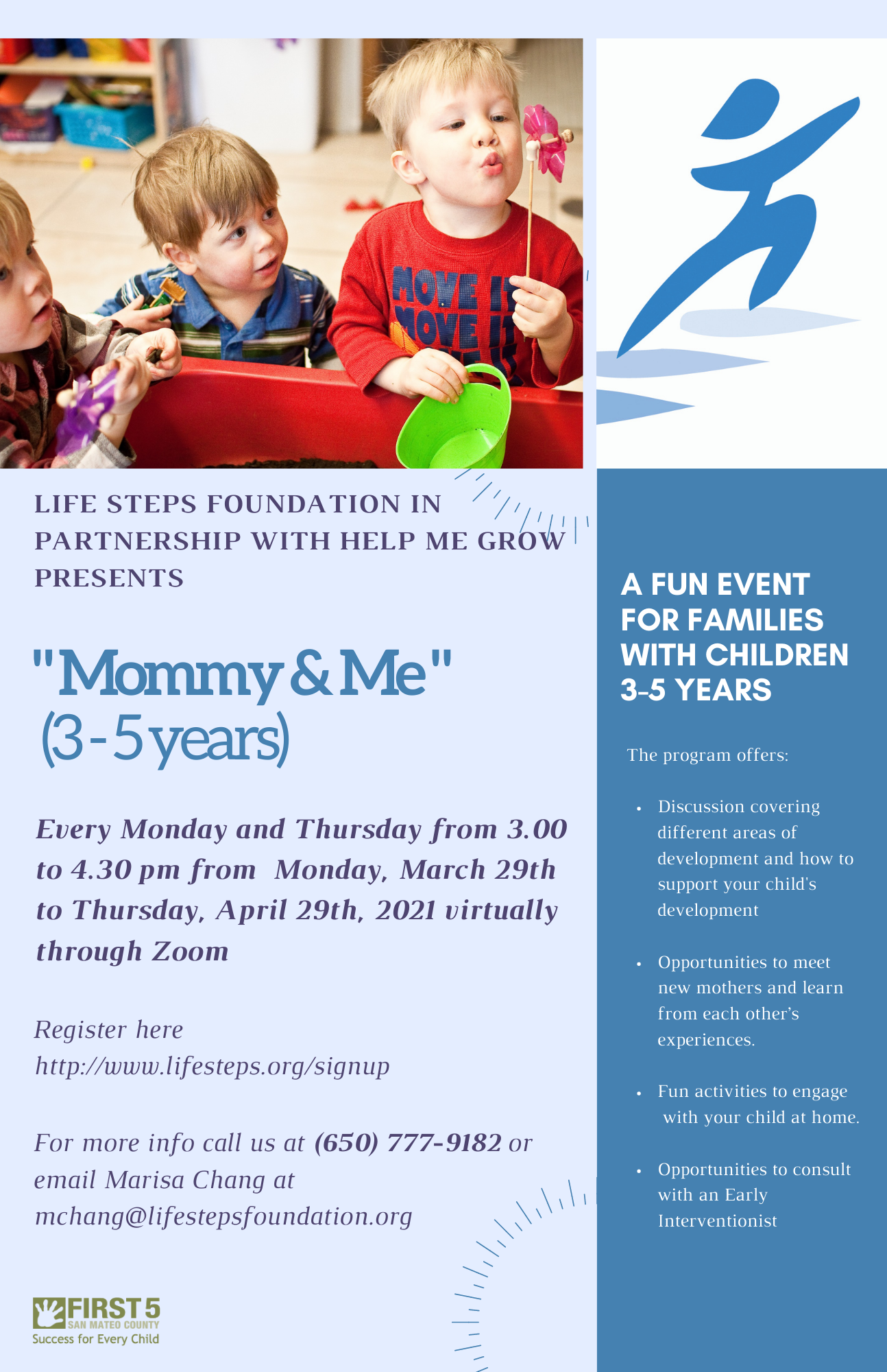 Mommy and Me Toddler Session - Runs from March 29 to April 29, 2021
