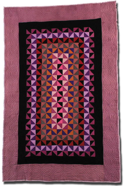 Triangles, Maker unknown, Possibly made in Holmes County, Ohio, United States, Circa 1930-1950, 68 x 44.5 in, IQSC 2000.007.0003