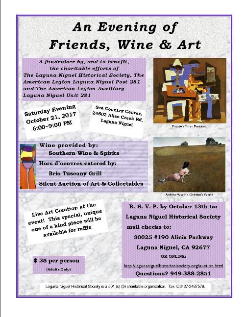 An Evening of Friends, Wine & Art Fundraiser