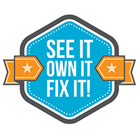 See It. Own It. Fix It. Motto for Strategic Factory