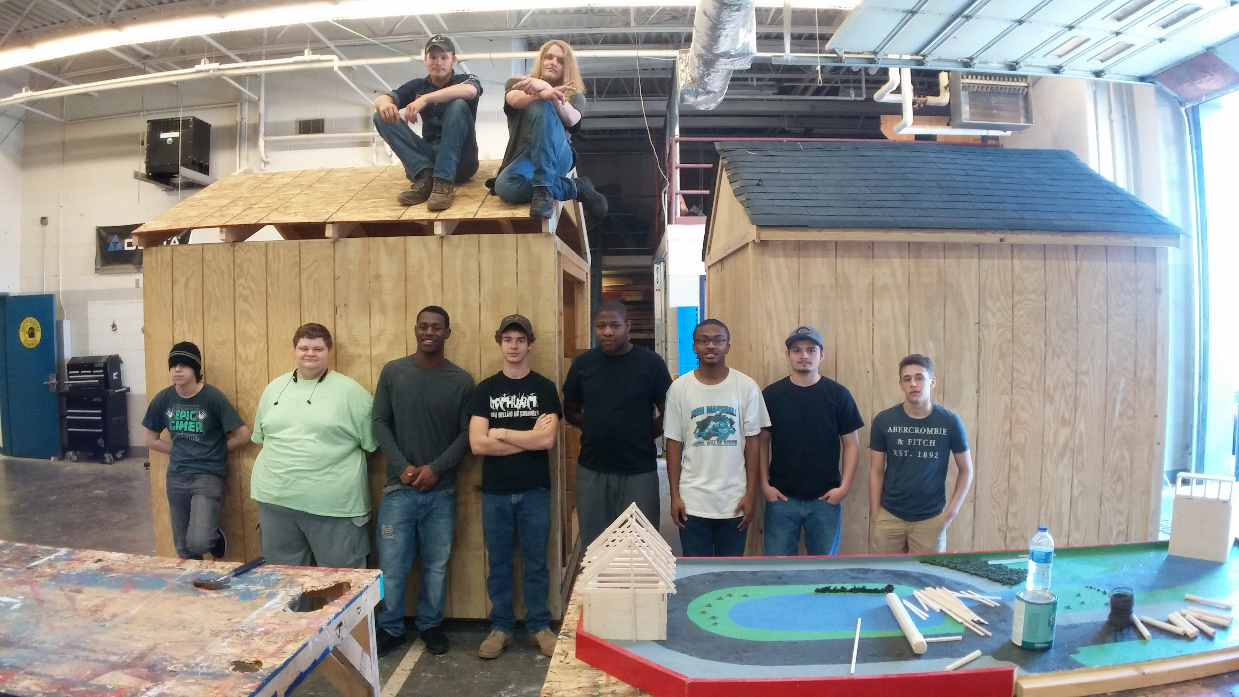 Cumberland students build more sheds