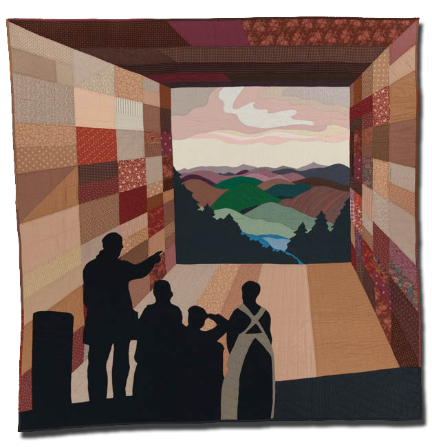 'The Promise,' made by Paulette Aileen Suder Peters, made in Elkhorn, Nebraska, United States, dated 1986, 72 x 72 in, IQSCM 2005.011.0001