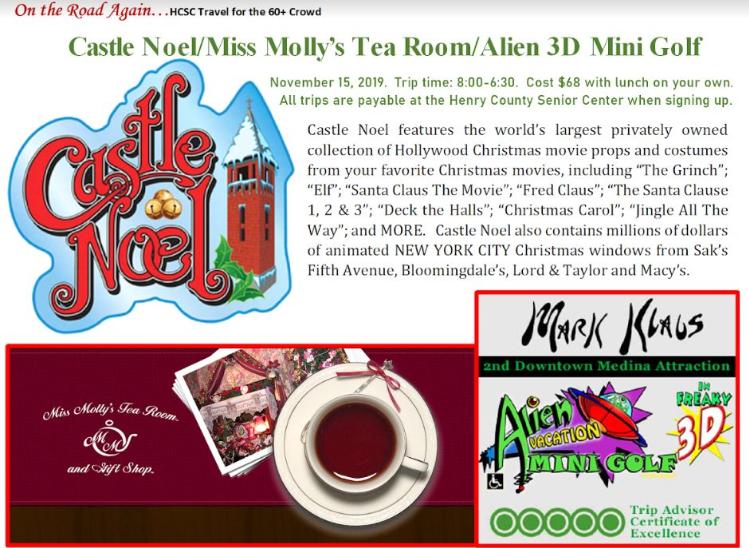 Nov. 15 Castle Noel and Alien Mini Golf