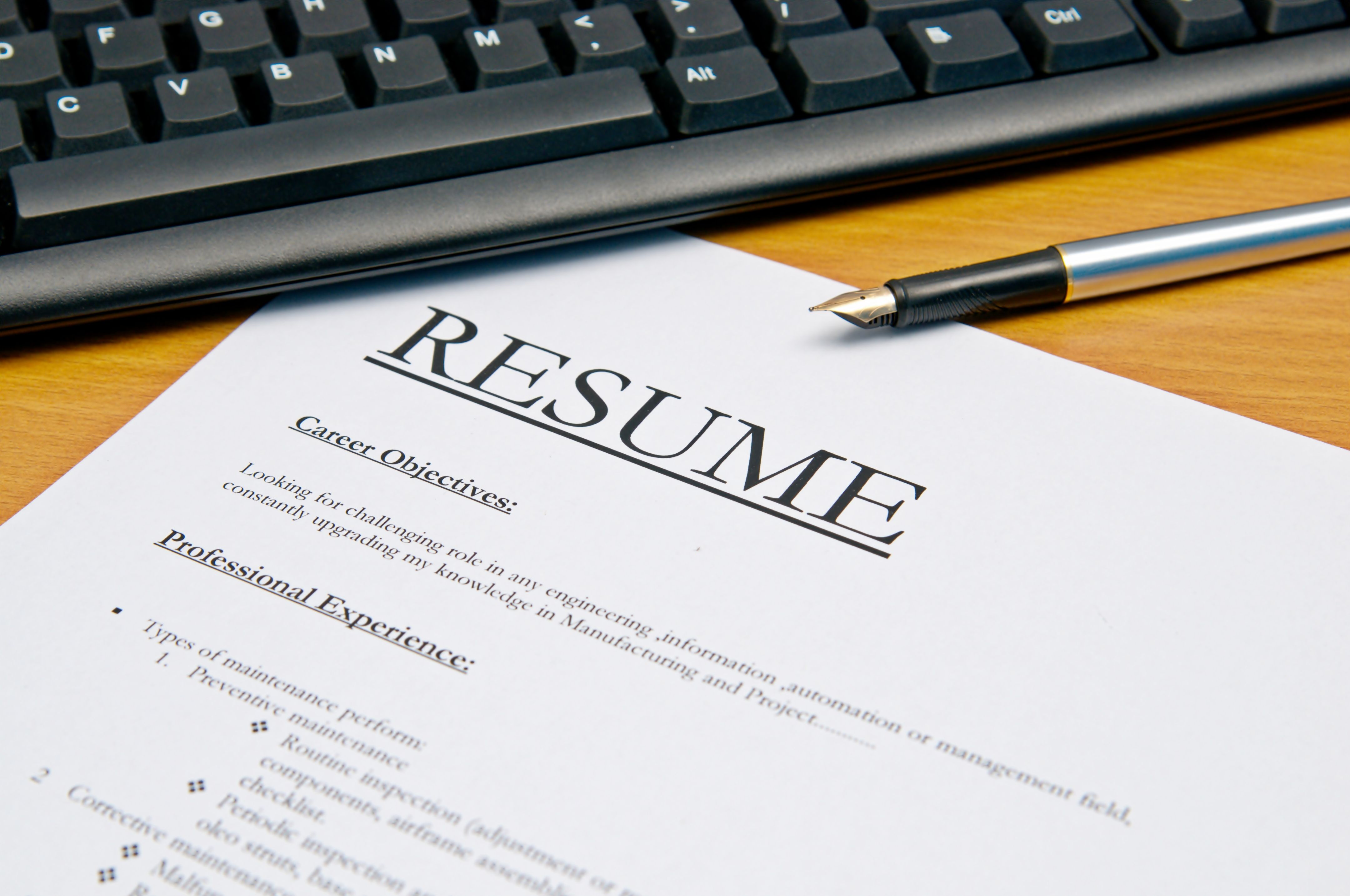 Resumes produced in Owings Mills, Maryland.