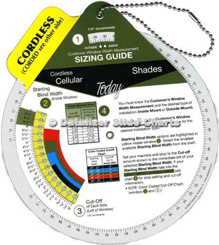 Window Trim Sizing Calculator Wheel
