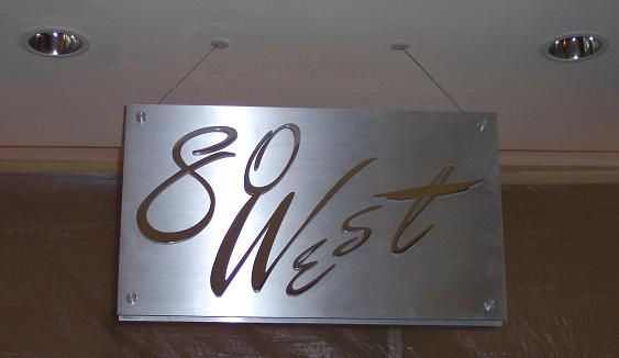 Aluminum 80 West Sign