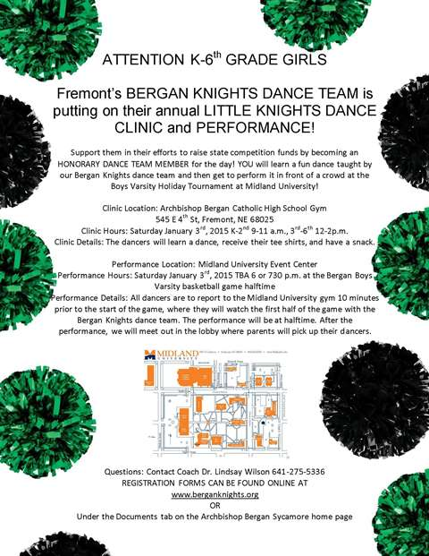 Annual LITTLE KNIGHTS DANCE CLINIC and PERFORMANCE