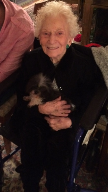 Gma and Luna - her favorite little dog