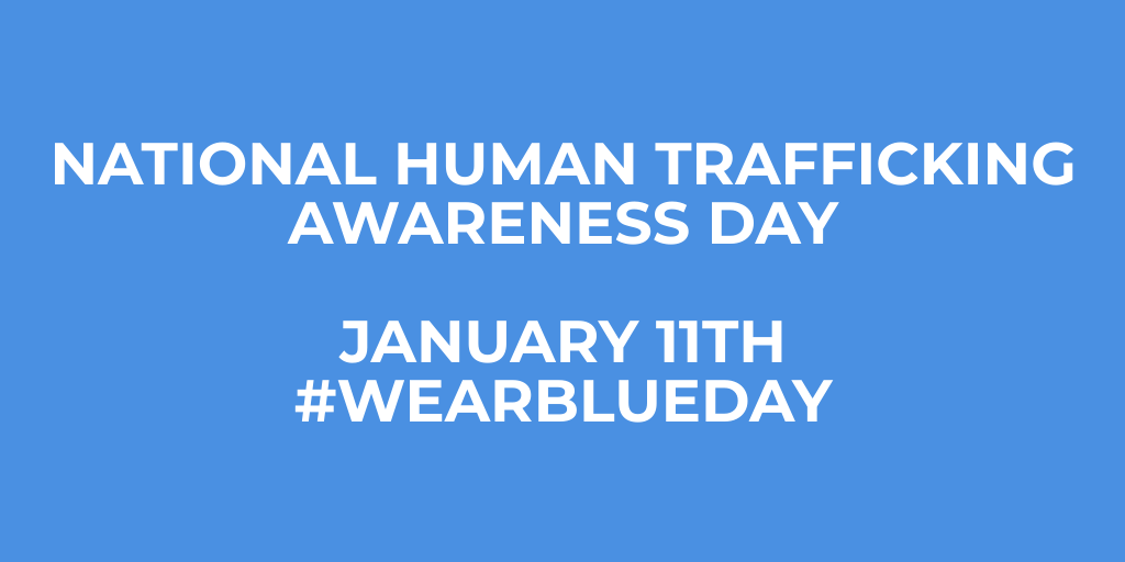 January is National Slavery and Human Trafficking Prevention Month