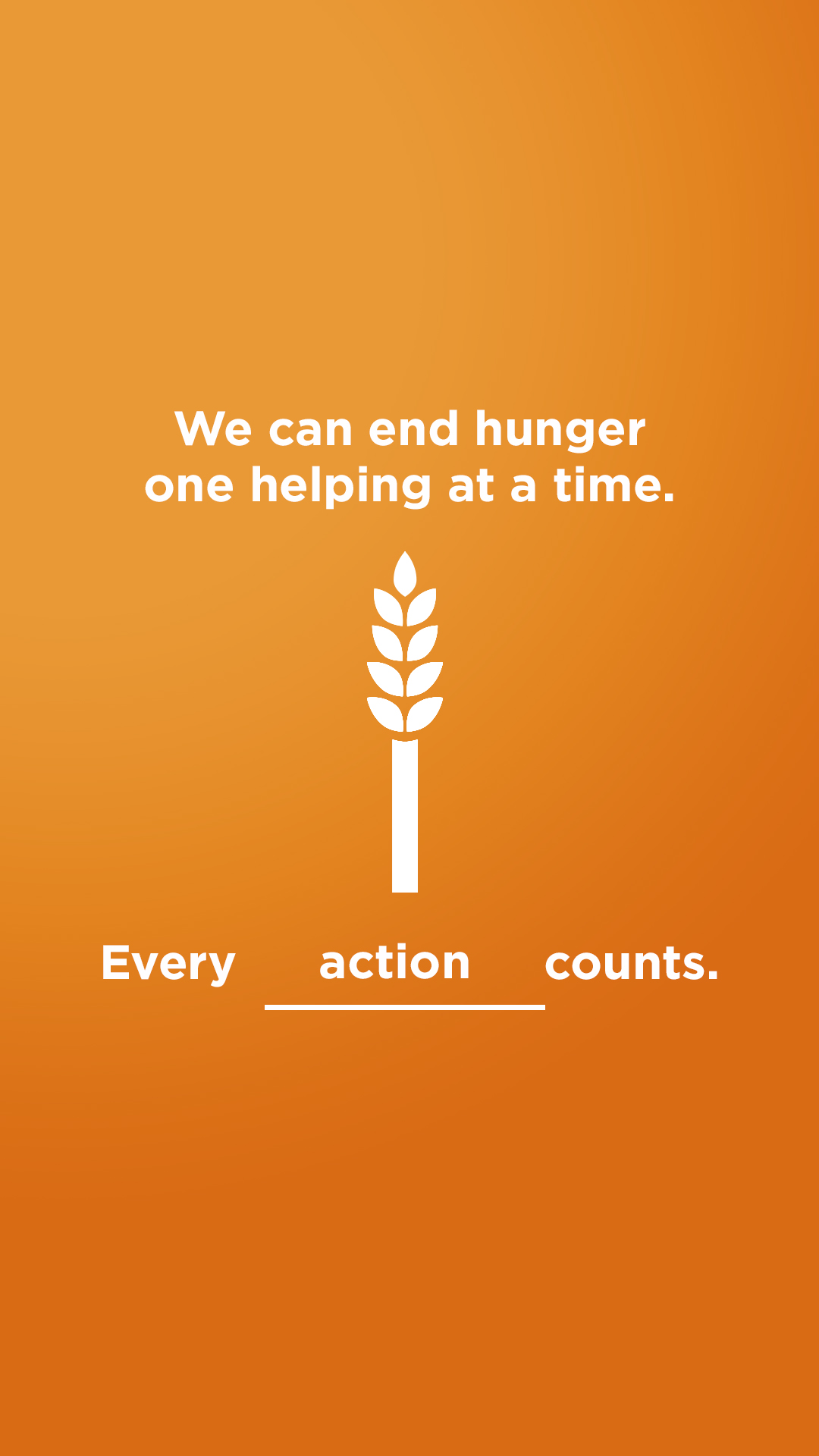 We can end hunger - action